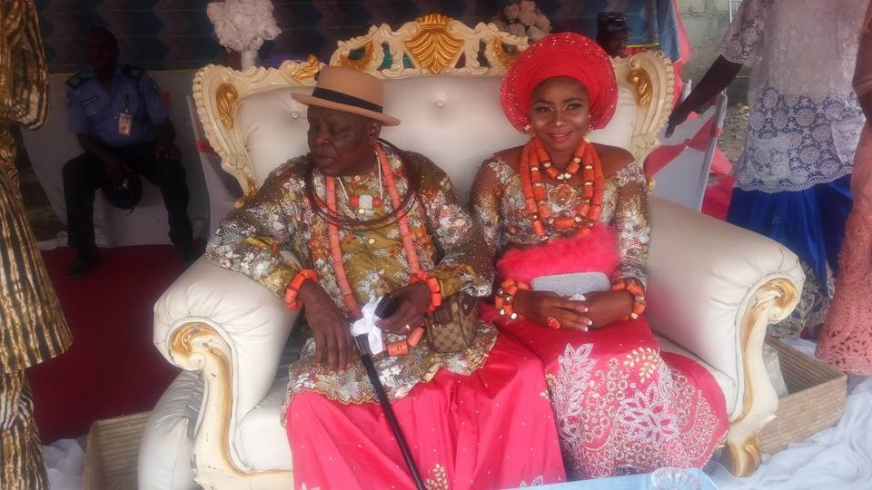 Photos: Ex-governor, James Ibori?s older brother weds his much younger lover
