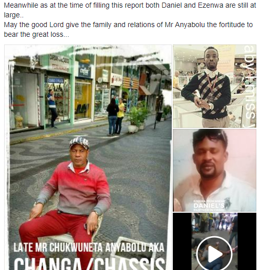 Ex-Nigerian footballer dies while chasing man who duped him in Brazil (video)