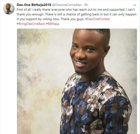 Evicted housemate, Dee-One goes on blocking spree after non-fans come for him for pleading to be voted back into the Big Brother House (Screenshots)