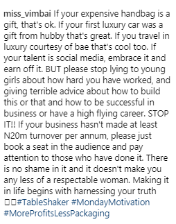 Who is she shading? OAP Vimbai criticizes women who live lavish lifestyles funded by others yet come online to advise young girls to work hard