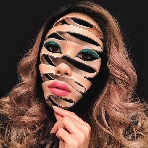 Photos: Can you believe this Canadian artist creates her looks entirely out of makeup?