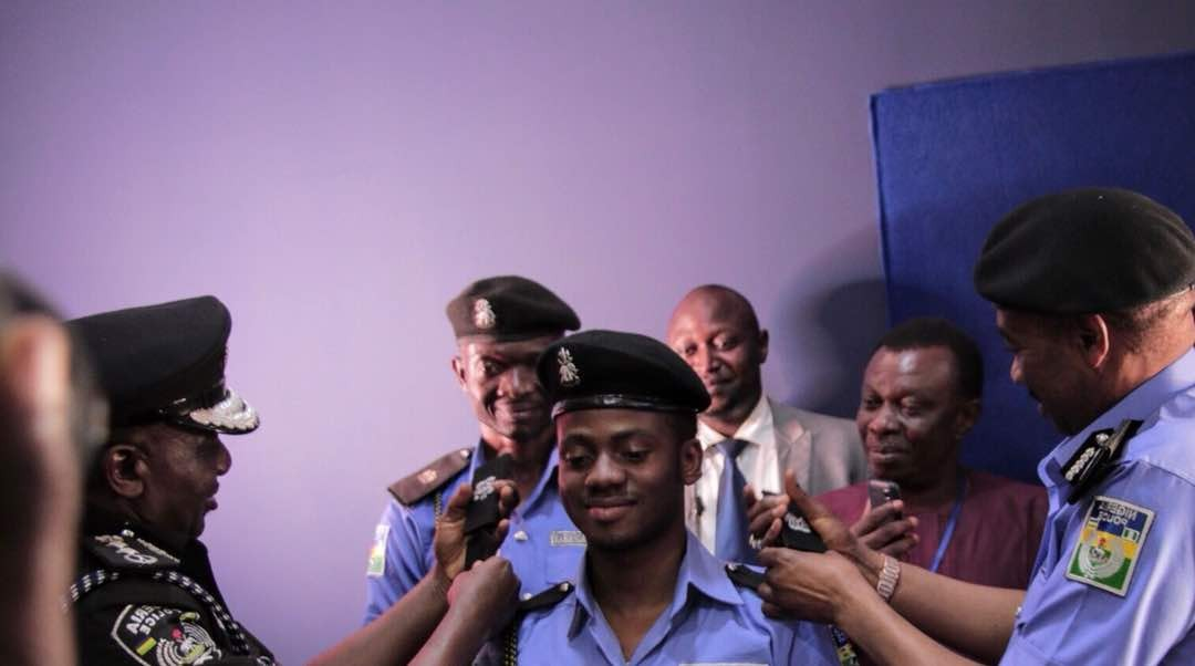 Photos: IG, Ibrahim Idris decorates Korede Bello as honorary Superintendent of Police