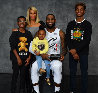 Lebron James shares very cute photo of his family