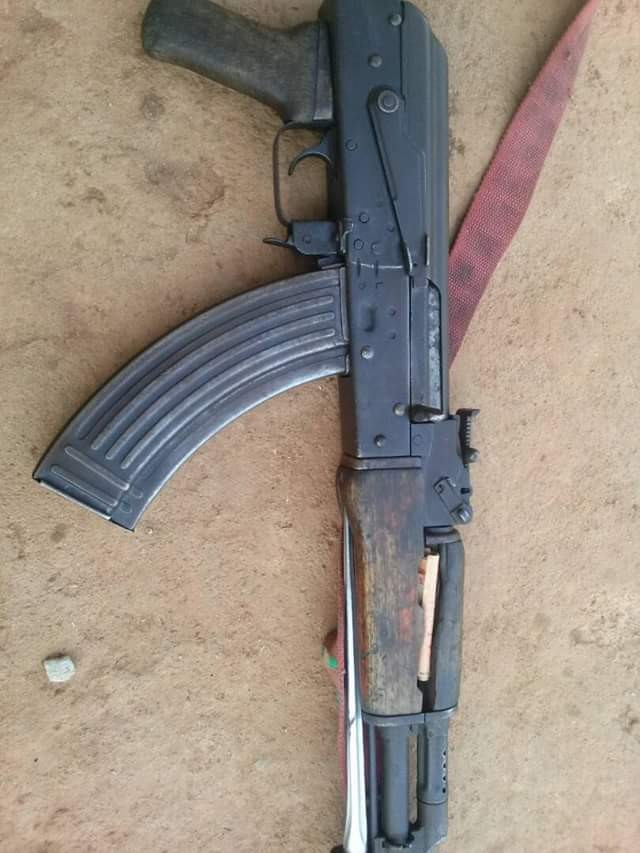 Photos: Troops arrest gunrunner, recover weapons in Kaduna
