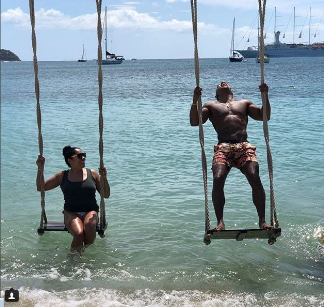 Couple goals: JaRule and wife Aisha Atkins take a dip in the lake (Photos)