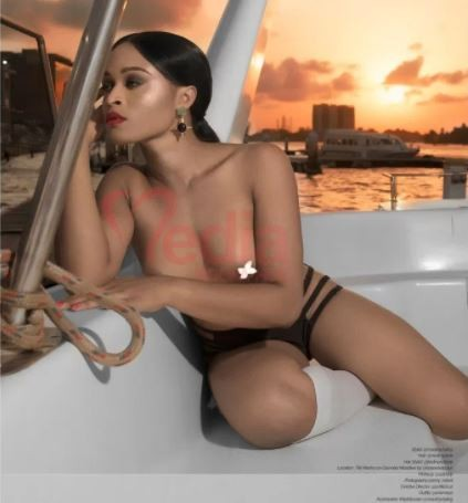 Nigerian model,?Marvelous Dominion goes completely nude as she covers the March edition of MediaRoomHub Magazine