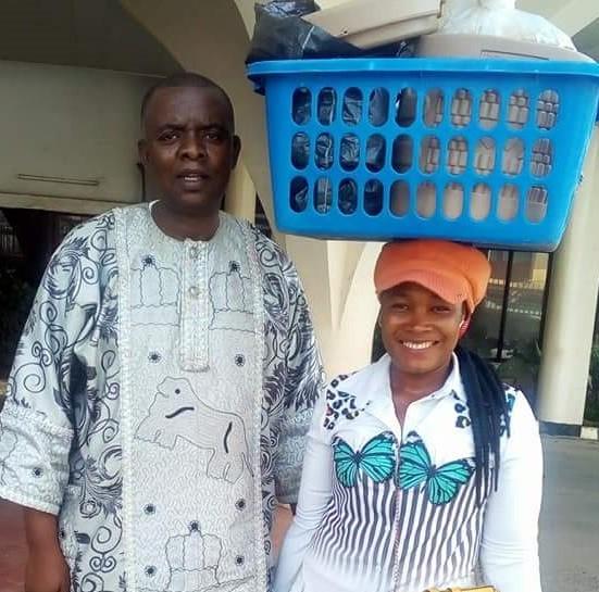 Meet female graduate who hawks food in Abuja (photos)