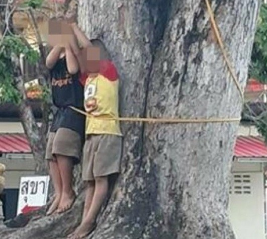 Police hunts couple who beat and tied two kids to a tree