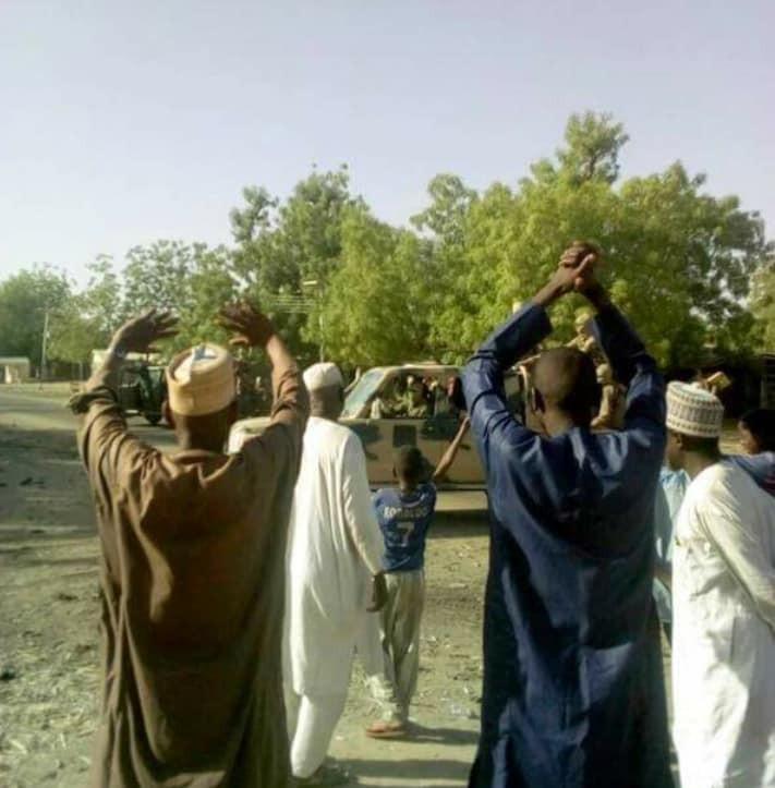 More photos of Dapchi residents celebrating Boko Haram members after returning their daughters