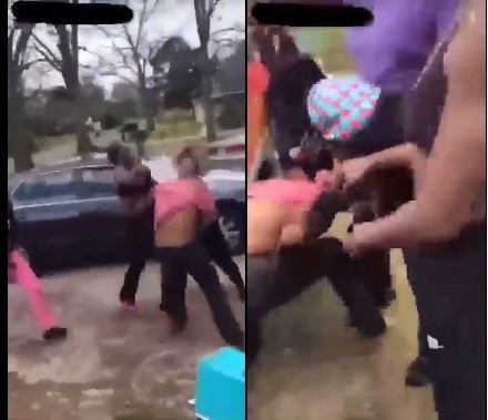 Man gets the beating of his life from his Baby Mama and her sisters (Video)