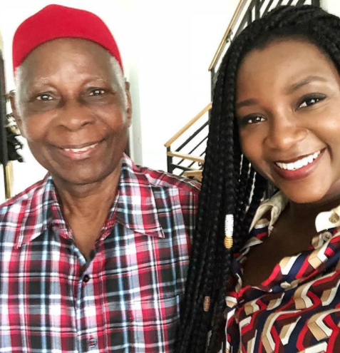Genevieve Nnaji shares lovely photo with her father....she looks so much like him
