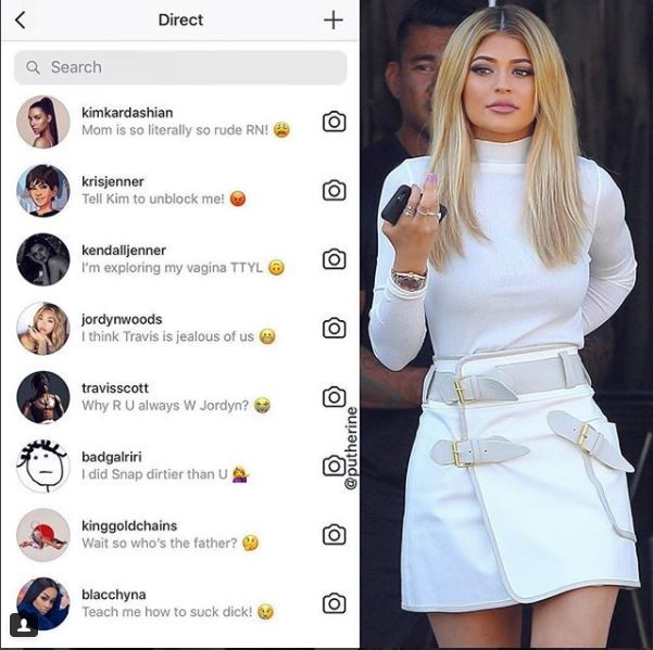 Lol..See what they did to Kylie Jenner