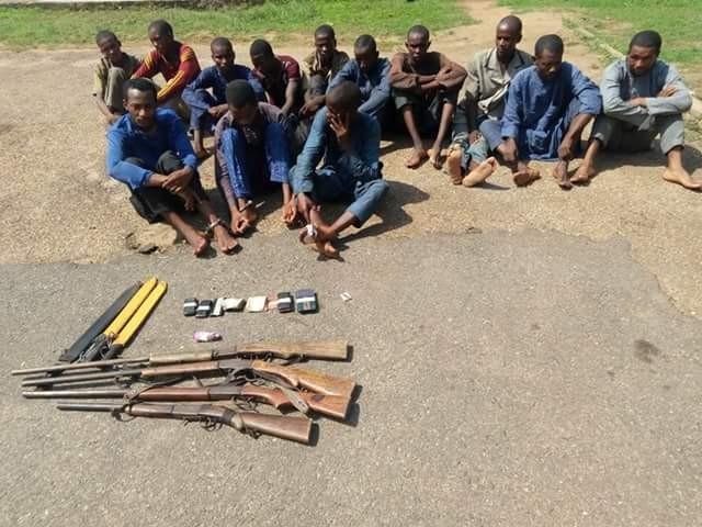 Photo: Police arrest 16 herdsmen who allegedly kidnapped WAEC officials in Oyo State