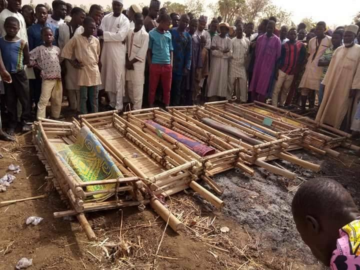 Photos: 6 young men killed after mud house they were building collapsed on them in Sokoto