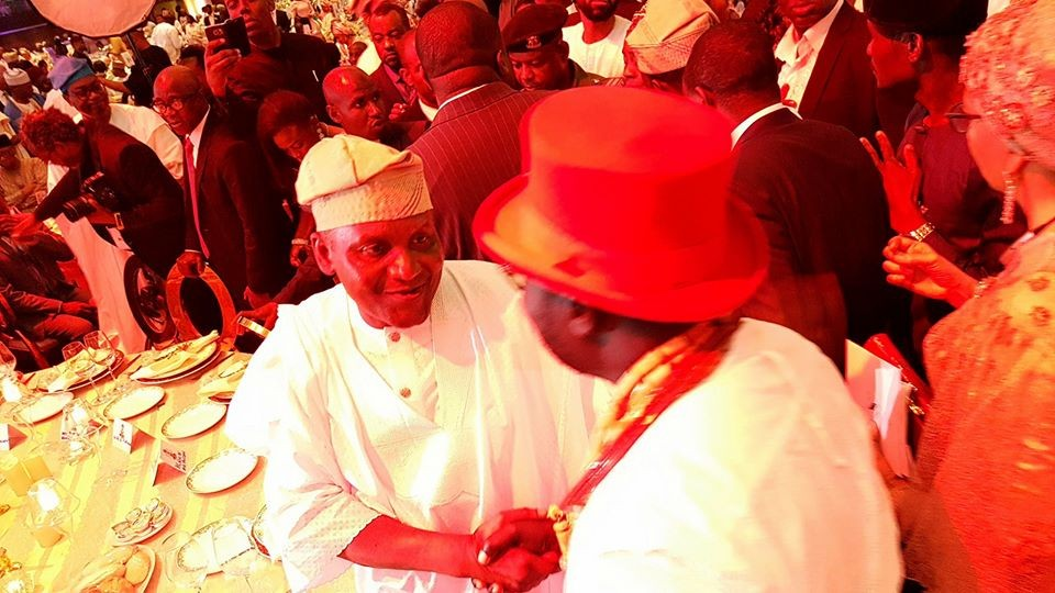 Photos: VP Osinbajo and wife Dolapo, Saraki, Tinubu, Otedola, others at Aliko Dangote