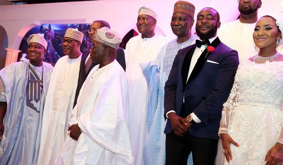 Photos: Obasanjo, Atiku, Gowon, Ben Bruce at Aliko Dangote daughter