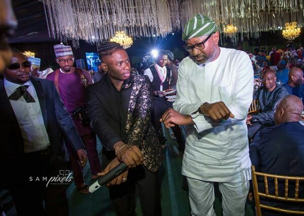 Photos of billionaire businessman Femi Otedola doing the