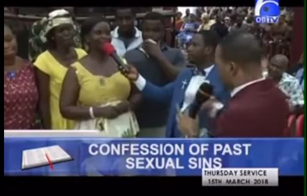 Here is the bizarre moment, church members in Ghana confessed their sexual sins in public, reveal how many men and women they have slept with (Video)