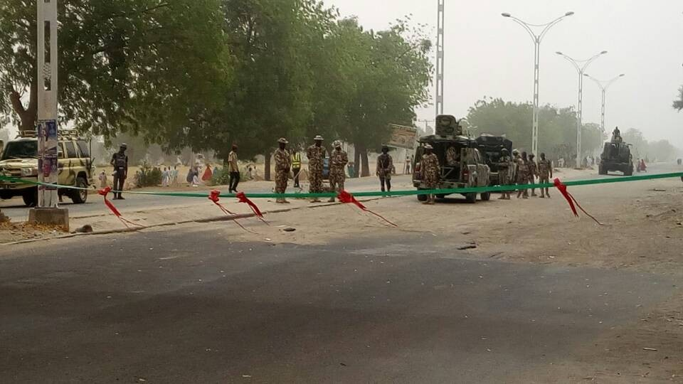Photos: Nigeria Army reopens Maiduguri-Bama-Banki road held by Boko Haram for years