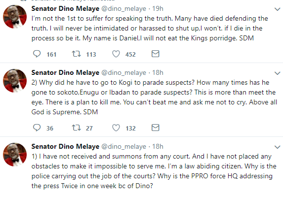 Dino Melaye denies fleeing Nigeria, says there is a plan to kill him