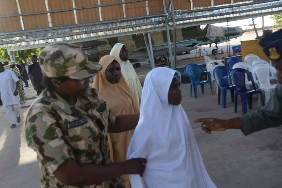 Photos: Nigerian Air Force airlifts Freed Dapchi girls back to Maiduguri to reunite with their families