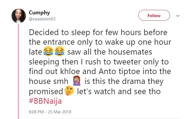Don Jazzy and other Nigerians lament after Khloe and Anto made low-key entrance after keeping many awake (Screenshots)