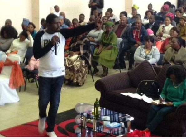 "Photos: Former Nigerian singer, ""Soul E"" becomes?""Prophet Emmanuel"" now holds crusades in South Africa.?"
