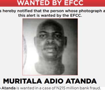 EFCC declares man wanted for hacking into the bank account of a company and transferring millions into his