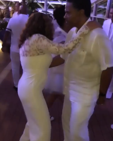 Just like Beyonce! Watch Tina Knowles show off her moves while dancing with her husband