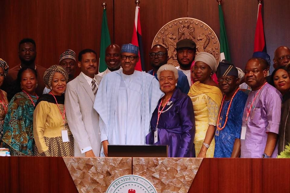 Photos: President Buhari receives the family of Martin Luther King Jnr in Abuja