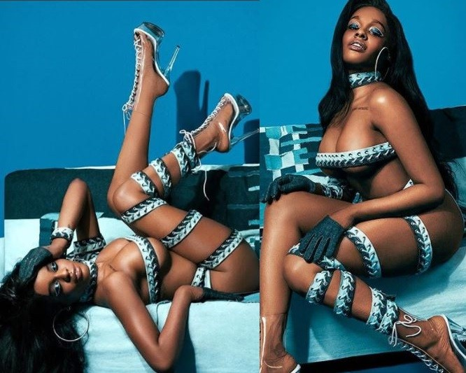 Azealia Banks shares new racy photos from her semi-nude photoshoot