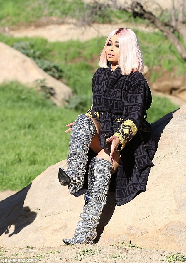 Blac Chyna flaunts her curvaceous curves in cut-out bikini for new photoshoot (Photos)
