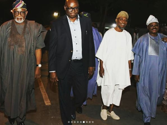 Photos: Osun state governor, Rauf Aregbesola steps out in very unique ensemble