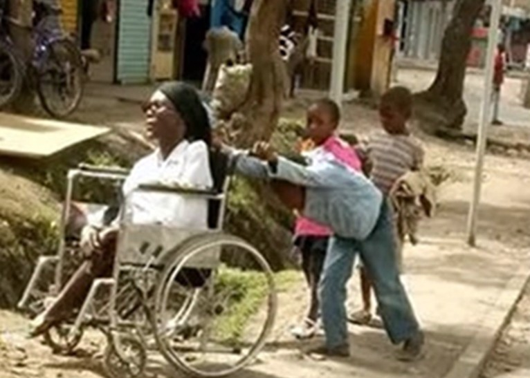 Update: Here is the story of the 10-year-old boy who wheels his paralysed mother to her shop everyday before going to school