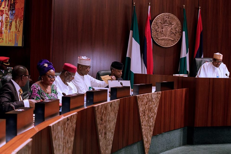 Photos: President Buhari presides over the Federal Executive Council meeting