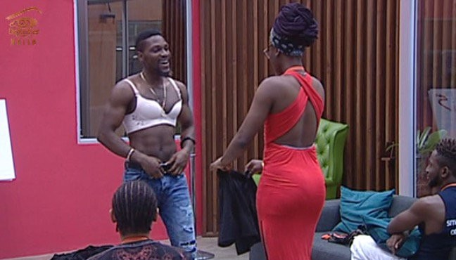 Check out #BBNaija housemate, Tobi, rocking a bra(photos)