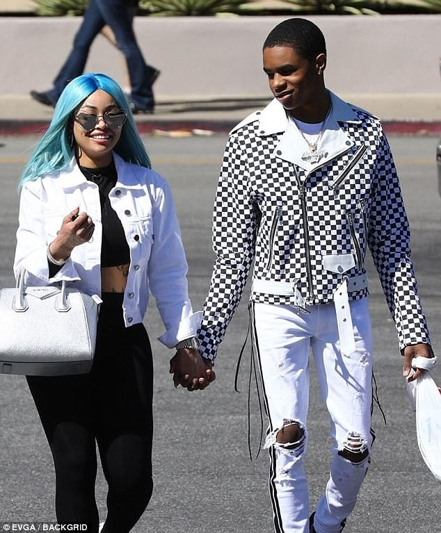 Blac Chyna and her 18-year-old beau YBN Almighty Jay step out hand-in-hand for shopping in LA (Photos)
