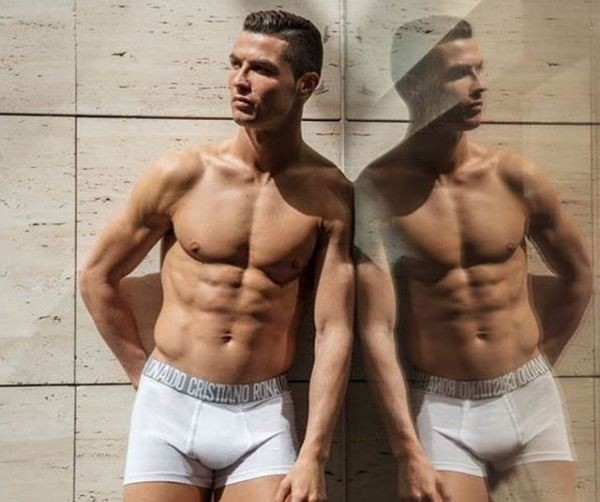 Shirtless Cristiano Ronaldo puts his eggplant on display in CR7 underpants