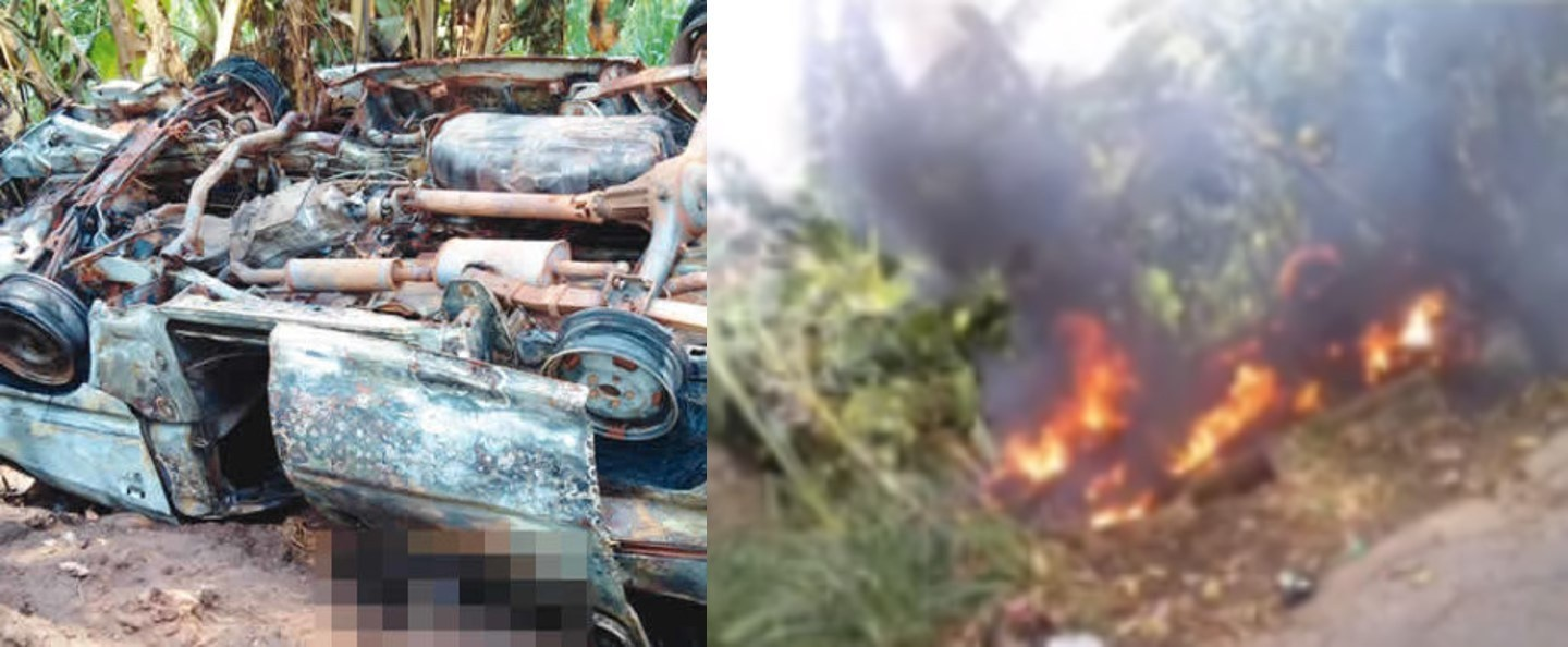 Passenger killed when bus plunged into ditch and caught fire following chase by NSCDC officials, laid to rest amid tears