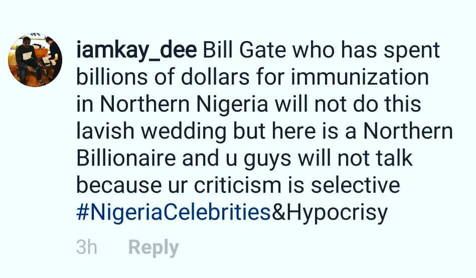 Ali Baba lashes man who criticised the lavish wedding of Dangote