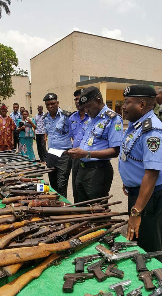 Photos: Police recover 178 guns and 840 rounds of ammunition from criminals in Oyo