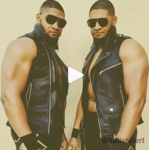 Meet the hot wrestling twins who have an uncanny resemblance to singer, Usher