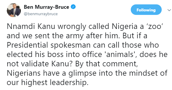 Ben Bruce reacts to Tolu Ogunlesi calling Nigerians attacking Naomi Campbell