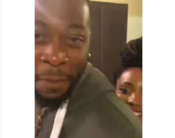 First video of evicted housemates Teddy A and his lover BamBam in their hotel room