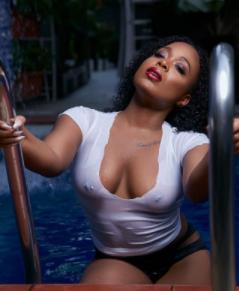 OAP Moet Abebe exposes her nippple piercings in new sultry photos