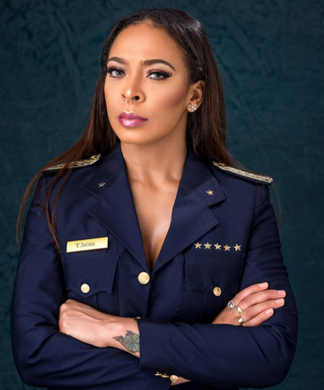 Ex BBN housemate, TBoss dresses up as a pilot in stunning new photos