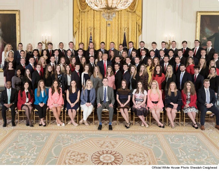 Donald Trump interns are all white. How wonderful! (photo)