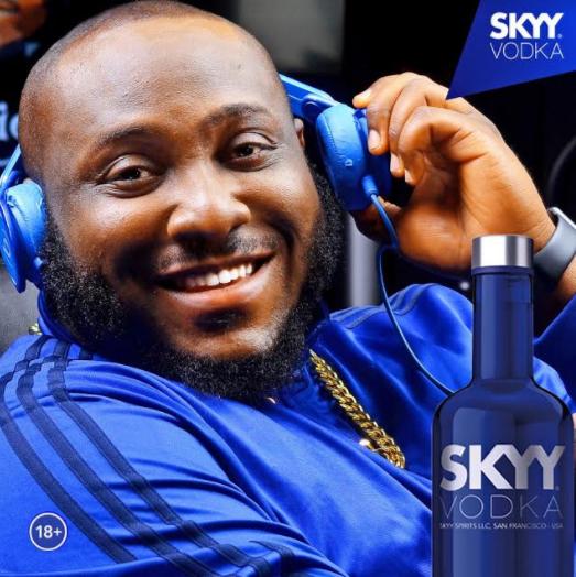 DJ BIG N bags Skyy Vodka endorsement