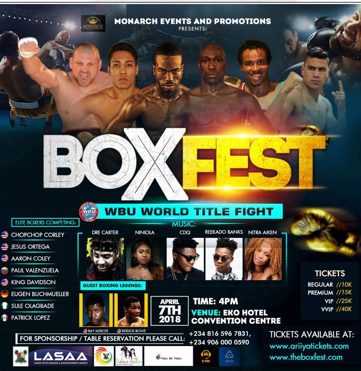 The Worlds biggest Boxing Festival is almost here !!
