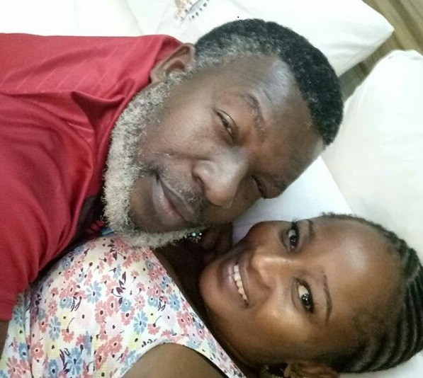 Actor Ejike Asiegbu and his wife might have been married for 21 years but they look like a pair of newlyweds in new photo